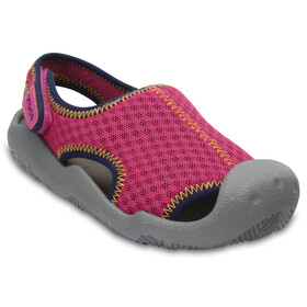 Crocs Swiftwater - Sandales Enfant - gris/rose